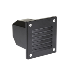 3W LED Exterior Wall Recess Louvre Square
